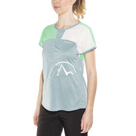 La Sportiva W's Push T-Shirt Stone Blue/Jade Green